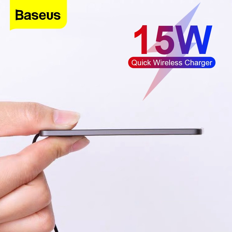 Baseus 15W تشى شاحن لاسلكي ل فون 12 11 برو XS ماكس XR الترا سليم التعريفي سريع اللاسلكية شحن الوسادة ل Xiaomi سامسونج