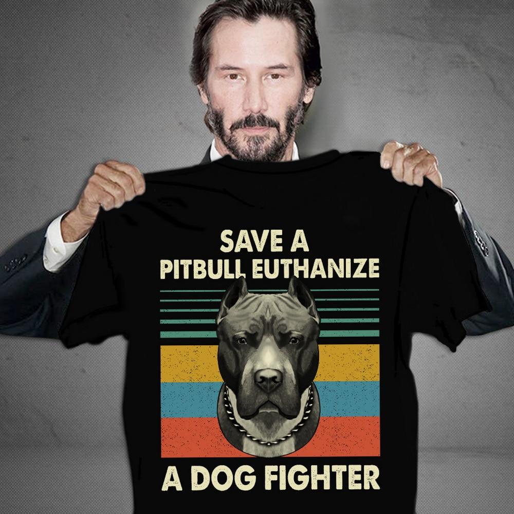 Salvar un Pit Bull la eutanasia A un perro luchador rescate amantes de los perros Tops camiseta T Shirt Regalo de Cumpleaños camiseta