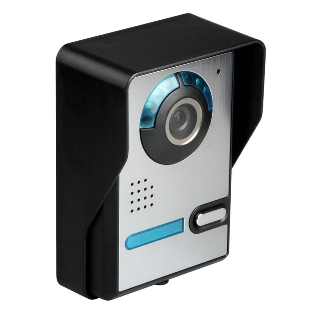 7 Inch Video Door Phone Doorbell Intercom Kit Doorbell Wired Video Intercom System Color Monitor and HD Door Camera enlarge