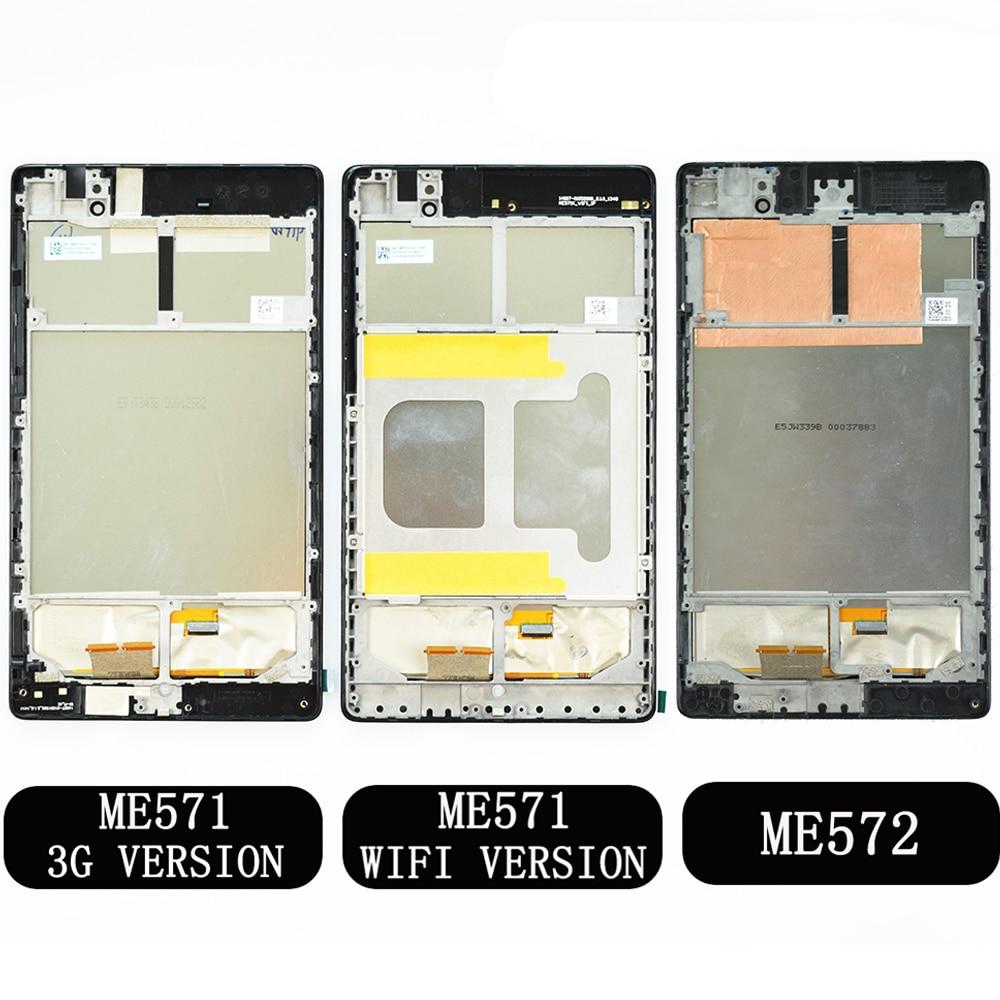 Для ASUS Google Nexus 7 2nd 2013 FHD ME571 ME571K ME571KL ME572 ME572CL K008 K009 ЖК-дисплей сенсорный экран крепление с рамкой