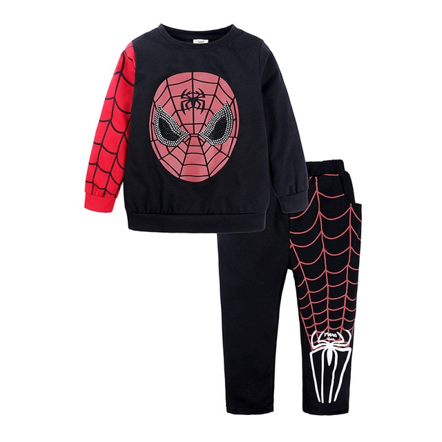 Shangku Kids Boy's Suit New Style for Autumn and Winter Cartoon Chao Man Spider Xia Children's Clothes 2
