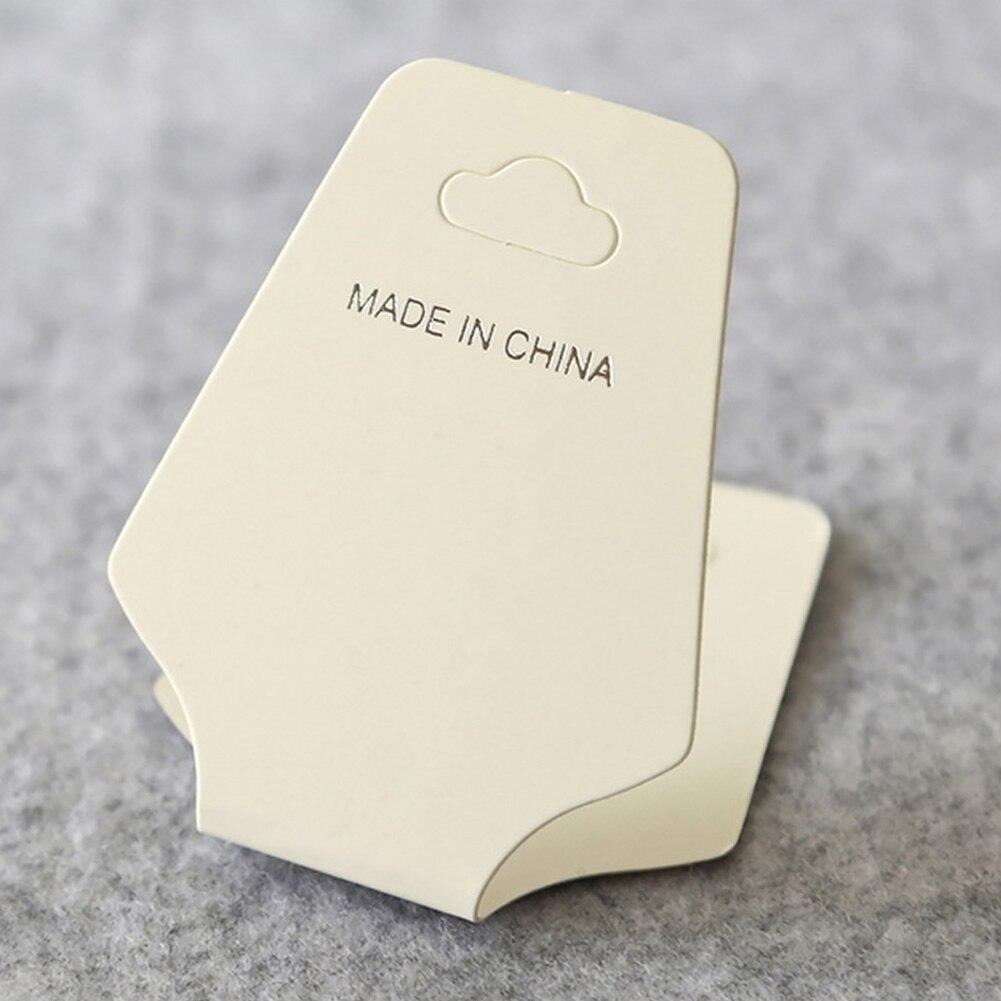 100 pçs embalagem pendurado organizador multifuncional brincos pulseira dobre sobre tag jóias colar exibir cartões titular