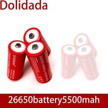 26650 nouvelle batterie Rechargeable au Lithium originale 3.7 v 5500 mah 26650 avec pointu (pas de carte PCB) pour piles de lampe de poche