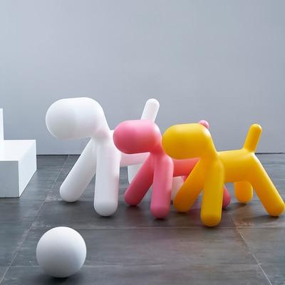 Creative puppy chair low stool children's kindergarten animal toy chair photography props cartoon fashion children's chair
