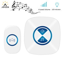 White LED Door Bell Wireless Doorbell Battery Powered 23 Tune Songs 1 Remote Control 1 Wireless Home