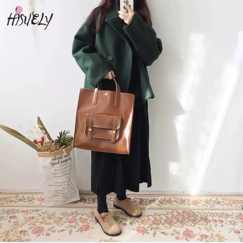 Handbag single shoulder bag Japanese handbag 2020 new fashion retro handbag