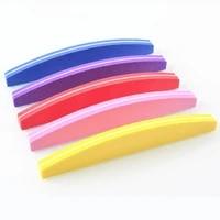 1pcs sponge sandpaper nail files for manicure nail buffer block 100180 grit nail sanding foam colorful polishing grinding tool