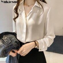fashion woman blusas mujer elegantes 2021 summer white Long sleeve Women's shirt Top blouses and shi