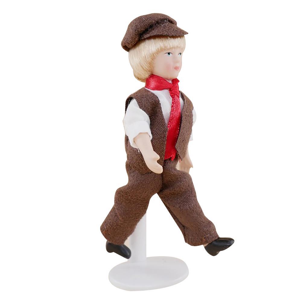 4 дюйма 1/12 кукольный домик Миниатюрный подвижный керамический режим для мальчиков и девочек художественный Декор домашний декор ролевые игрушки Детский подарок