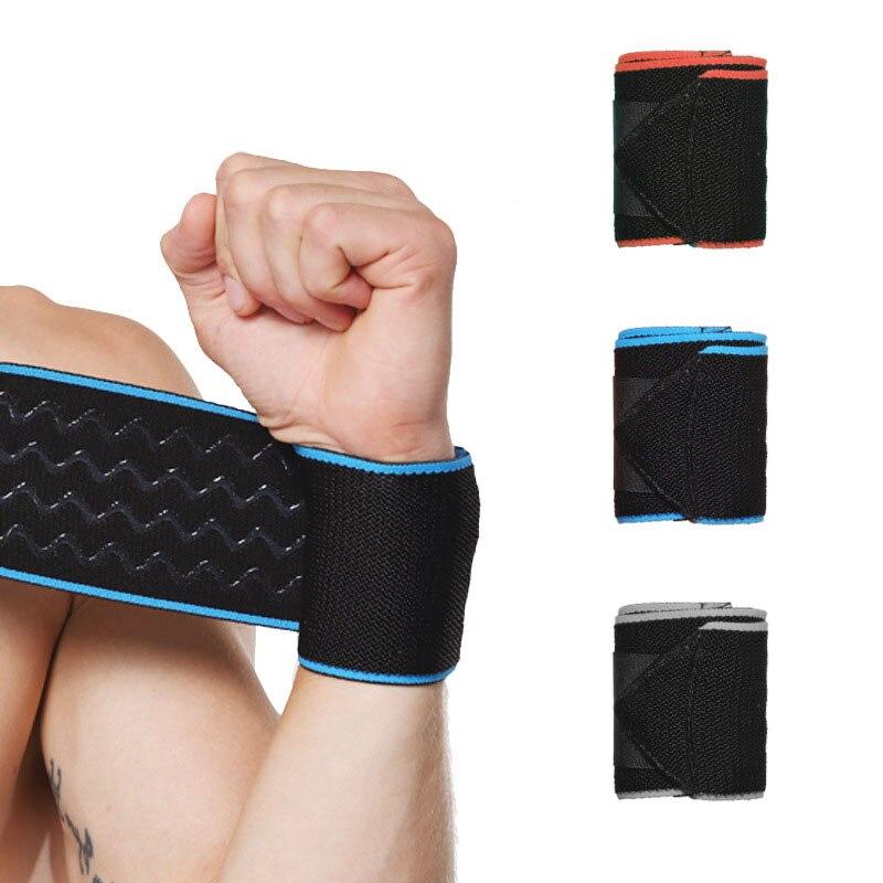 Lifting Wristband Cotton Elastic Wraps Bandage Breathable Wrist Support Gym Fitness Weight Training Brace