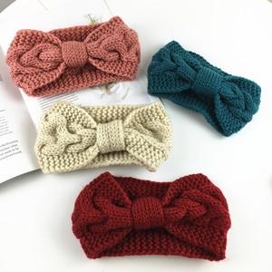 New Twist Twist Knot Wool Fashionable Knitted Headband for Ladies Autumn and Winter Knotted Warm Hairband Headband Headwear