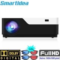 SmartIdea     projecteur natif FULL HD 1080 P  1920x1080 pixels  led 5500lumens  pour Home cinema  jeu video  USB  VGA  AV
