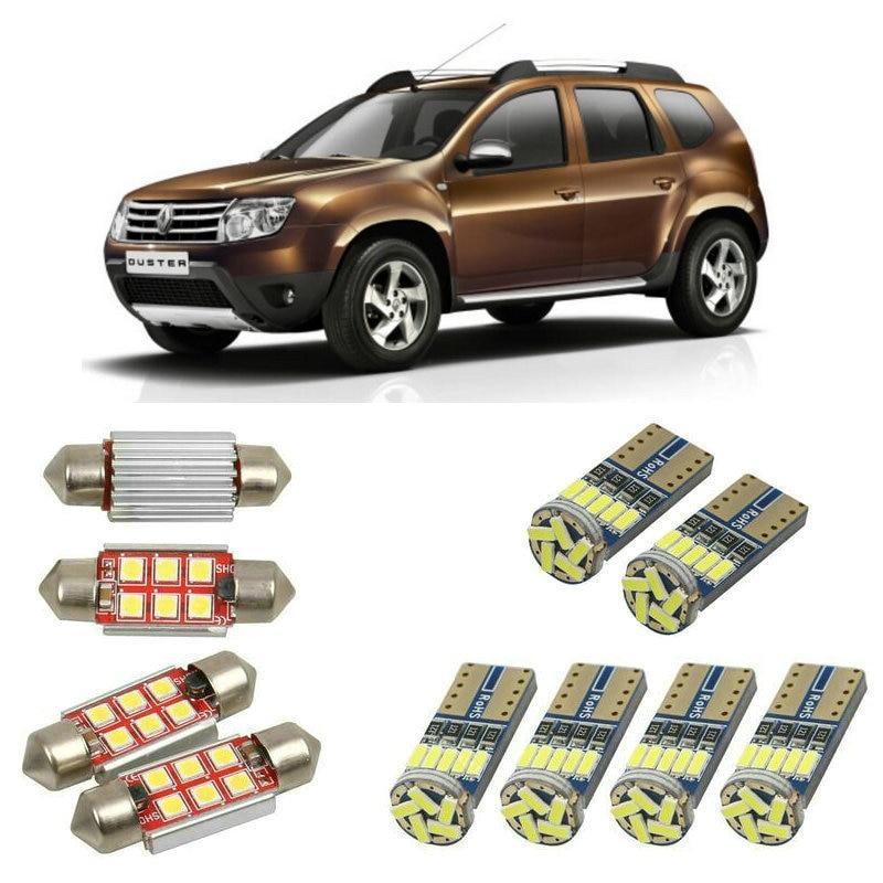Luces led de coche interiores para protector antipolvo para Renault hs todoterreno 2011 accesorios de coche arranque luz matrícula luz 8pc