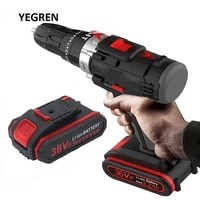 rechargeable home pistol electric drill cordless impact drill 2 speed forward reverse electric screwdriver woodworking tool