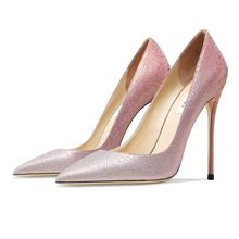 Gradual Change Women's autumn Pumps Heels Shoes Pointed Toe Sexy High Heel Shoes Stiletto Ladies Fas