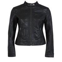Новинка 2021, модная женская куртка, Европейская мода, кожаная куртка, чистящая Одиночная мотоциклетная куртка из искусственной кожи, кожаная...
