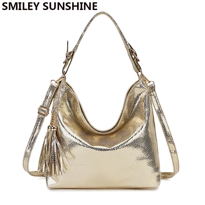 Gold Fashion Women Leather Handbags Female Shoulder Bag Ladies Hand Bags Purses and Handbags Large Crossbody Bag for Women 2020