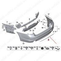 Rear bumper trim Rear plating bright strip Rear anti-collision bright strip 5 Series G38b mw540 530 Body strip Tail trim strip