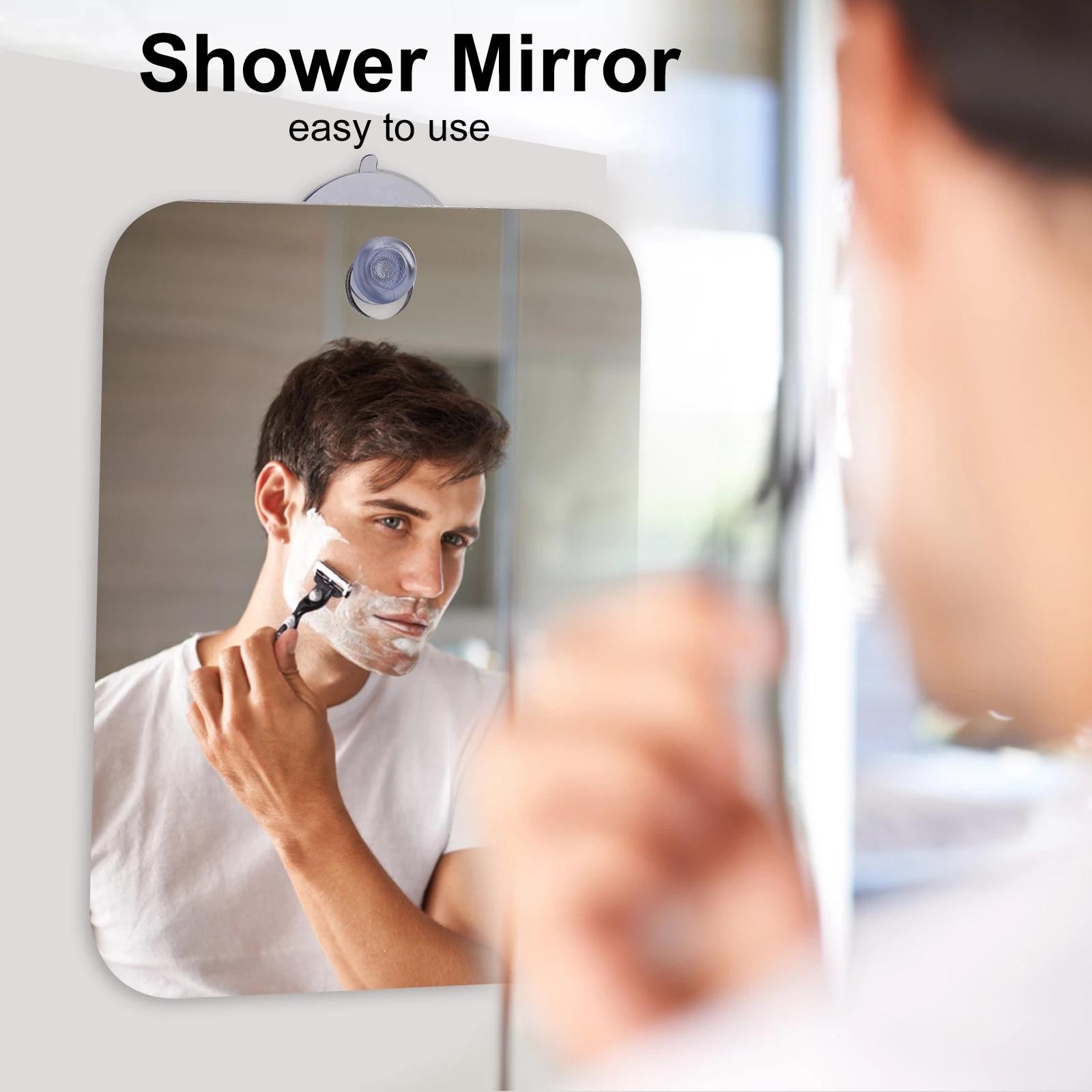 Акриловое антизапотевающее зеркало для душа, зеркало для бритья и макияжа, Безрамное Зеркало для ванной комнаты, ручное компактное зеркало ...