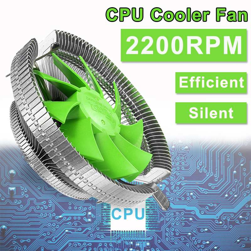 Enfriador de CPU silencioso, ventilador de refrigeración, radiador de aluminio de 12cm, disipador térmico Intel LGA 775/1366/115X AMD AM3 +/AM3/AM2 +/AM2/940/939/754
