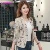 Veste de costume pour femme version coréenne style rétro impression petite version coréenne auto-culture boutonnage simple