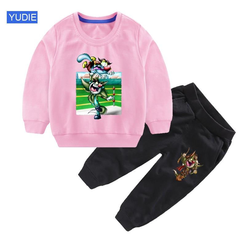 Комплекты детской одежды, Спортивная футболка и штаны с мультяшным рисунком для мальчиков, 2 шт./компл., наряд для младенцев, детская одежда, ...