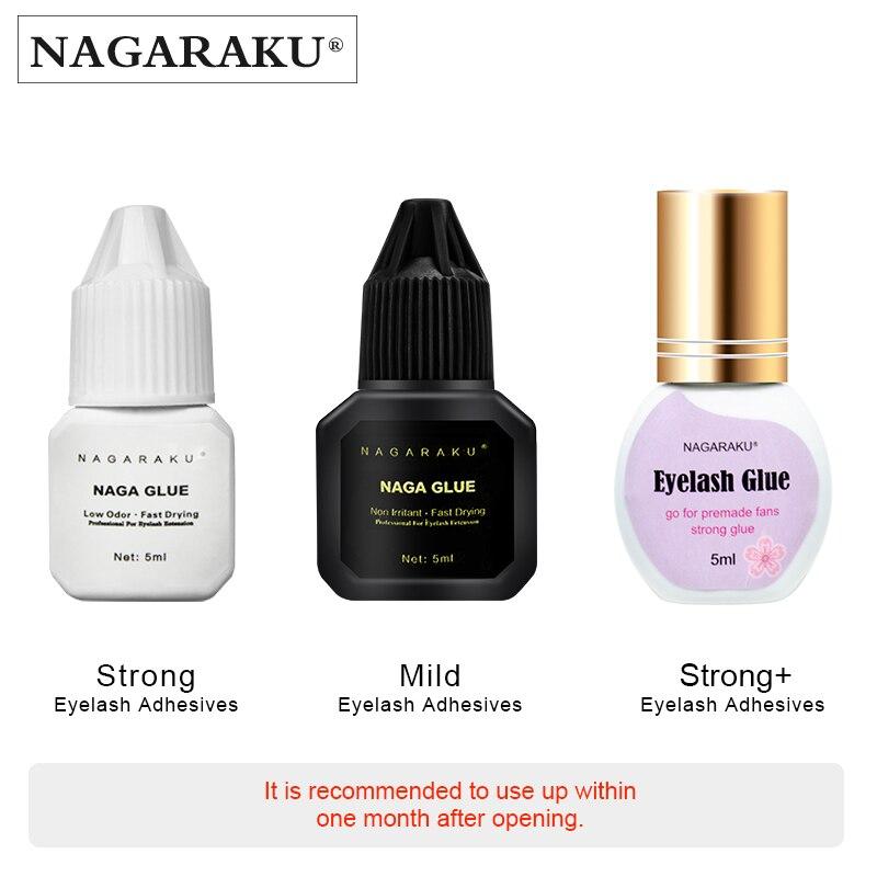 NAGARAKU Eyelash Extension Glue Makeup 5ml Fast Dry Russian Volume Lashes Adhesive Strong Glue Auto-fans eyelashes
