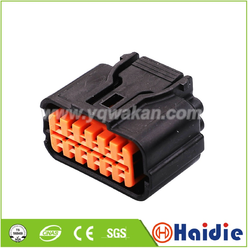 2sets 12pin auto wiring harness female plug cable wire waterproof connector HP285-12021