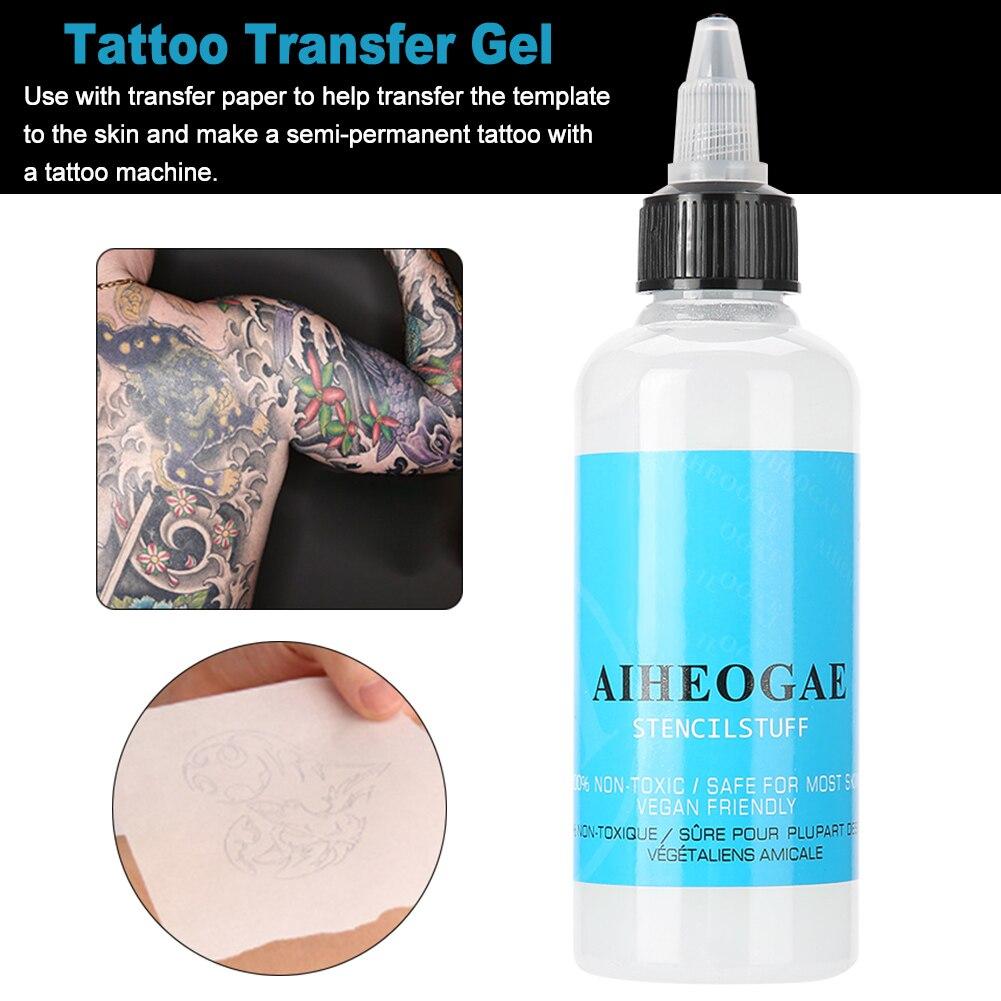 Crema de impresión portátil de 90ml, Gel de transferencia de tatuaje de secado rápido, plantilla profesional de arte corporal para el hogar, Primer Salón de seguridad para brazos para principiantes