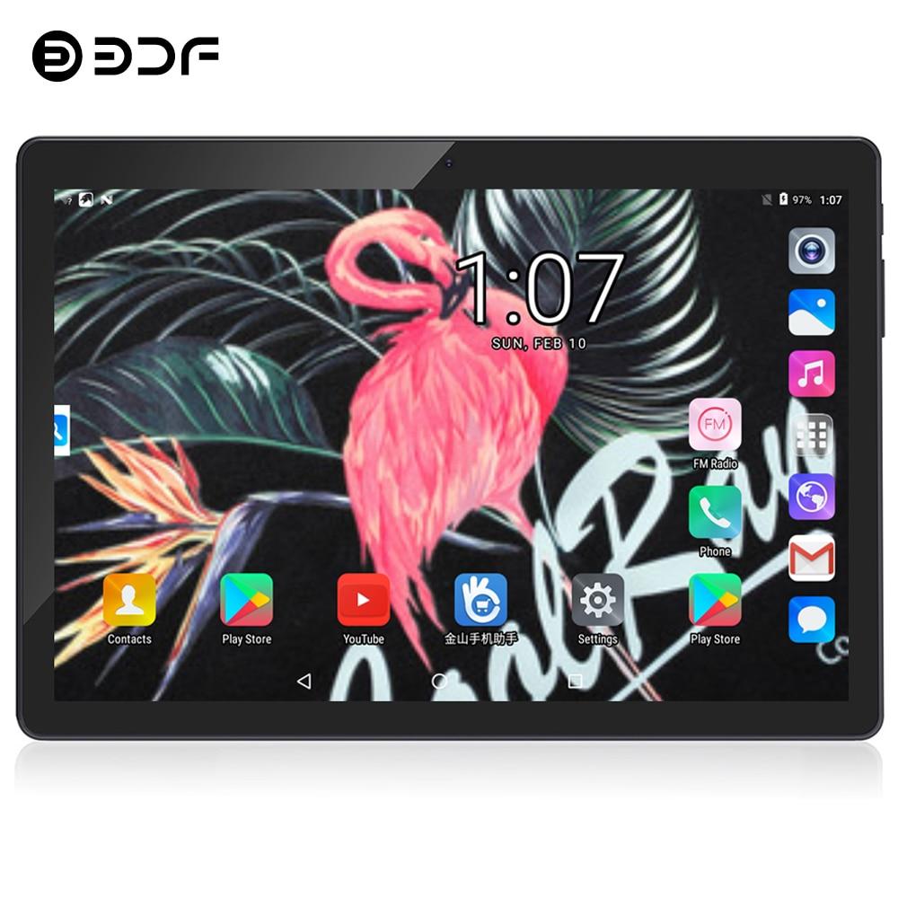 BDF 10 pulgadas 4/Quad Core Android 7,0 Tablet Pc 1280*800 pantalla 1GB RAM 32GB ROM Dual SIM Tab 3G llamada de teléfono de Video tabletas Pc 10,1