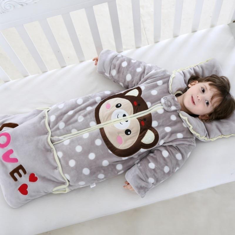 Saco De Dormir tipo sobre para recién nacido, edredón grueso para Mangas...