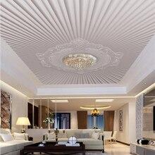 wellyu Custom wallpaper 3d modern simple European embossed pattern ceiling roof fresco mural wallpaper papel de parede 3d обои