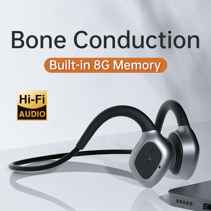 LeTi Bone Conduction Headphone Wireless Earphone Bluetooth Stereo Waterproof Mp3 with Music Micropho