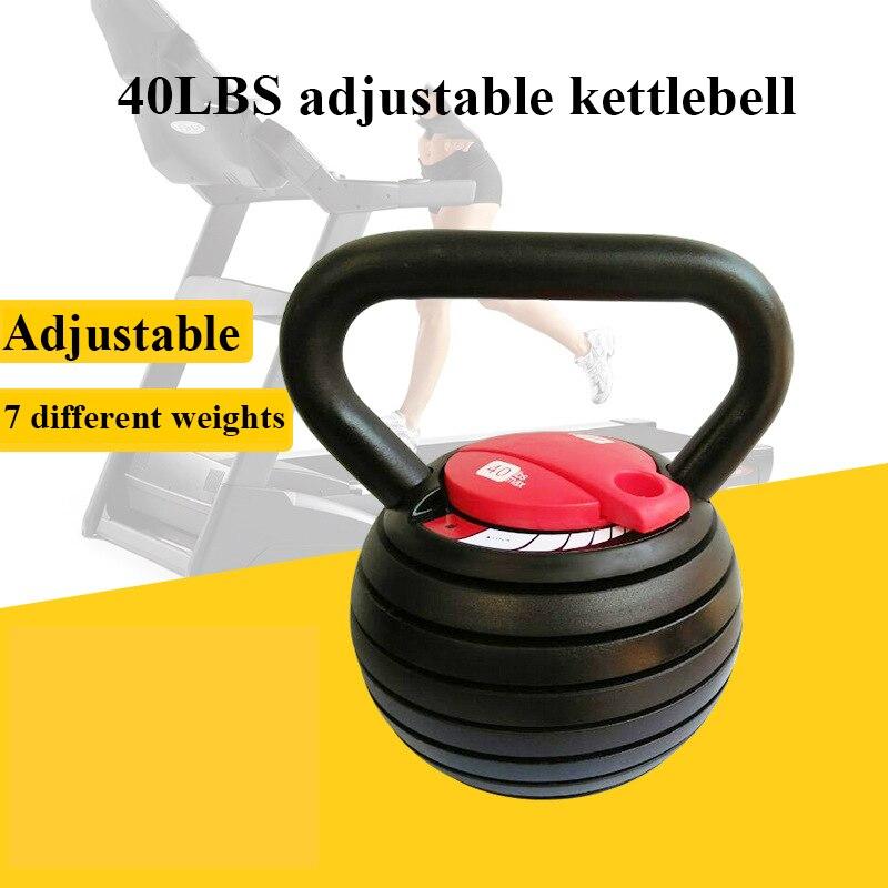 40LBS الوزن قابل للتعديل Kettlebell مجموعة متنوعة من الألوان يمكن تخصيص الرجال اللياقة البدنية غلاية 20lbs المرأة Kettlebell