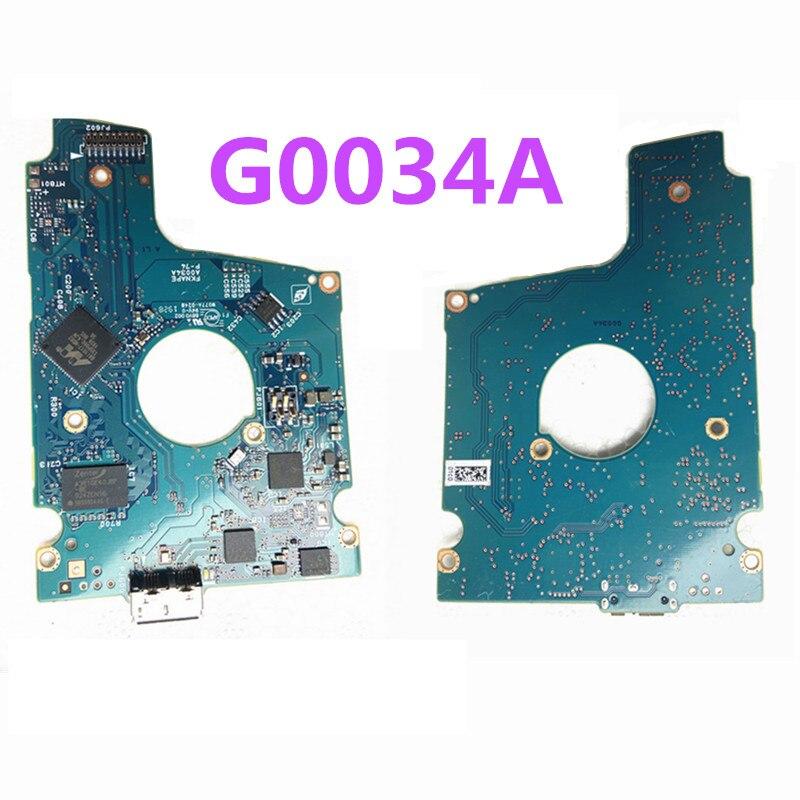 القرص الصلب PCB المراقب G0034A لتوتوشيبا 2.5 بوصة USB 3.0 hdd استعادة البيانات القرص الصلب إصلاح MQ04UBB400 MQ04UBD200