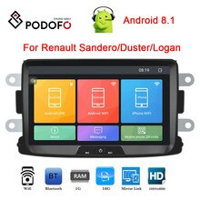 "Podofo 2 Din Car Multimedia MP5 Player 8 "" Android Car Radio GPS MP5 MirrorLink Monitor For Renault Sandero/Duster/Logan/Dokker"