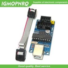 1 piezas USBTiny USBtinyISP AVR programador ISP gestor de arranque para IDE Meag2560 UNO R3 con 10pin programación Cable