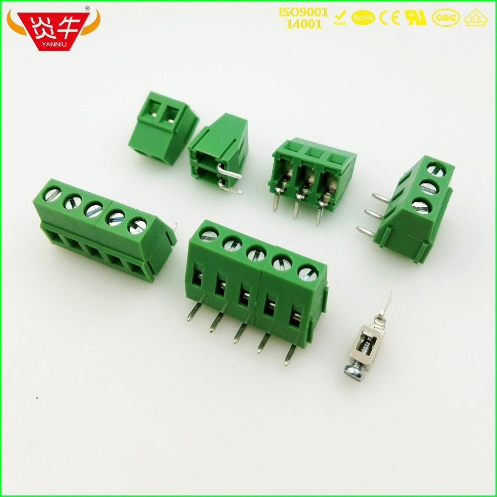 KF128R 5,0 2P 3P ángulo recto PCB bloques de terminales de tornillo UNIVERSAL DG128R 5,0mm 2PIN 3PIN MKDSFW 1,5 /2-1717091 Fénix DEGSON