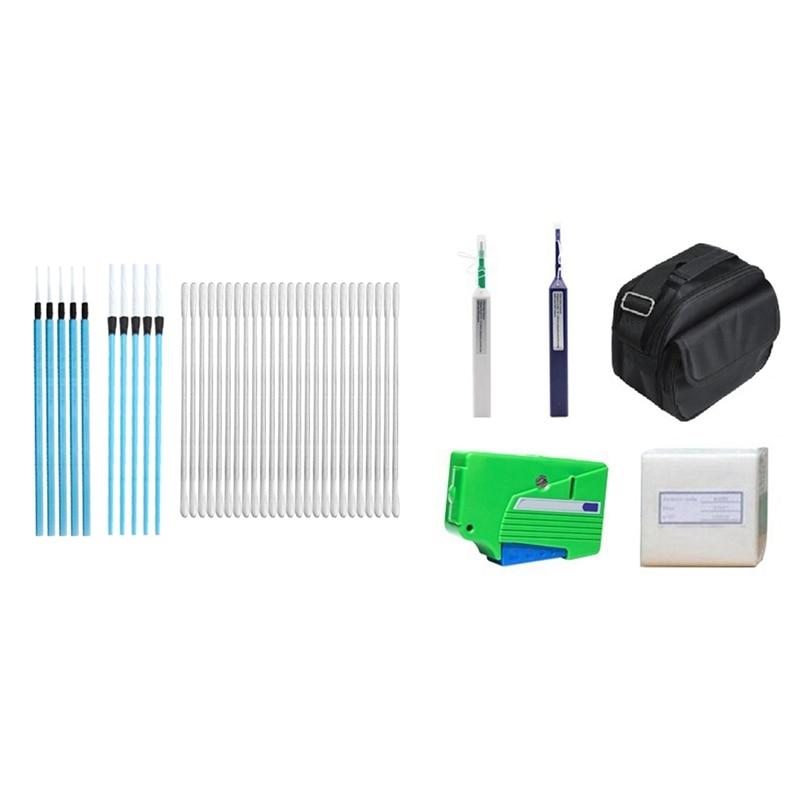 kit de limpeza de fibra acompanha caneta de limpeza com um clique de 125mm 25mm kit