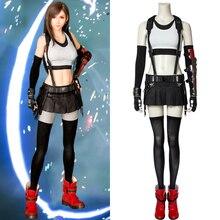 PS4 jeu Final fantaisie VII déguisement FFVII FF7 Tifa Lockhart Cosplay uniforme robe Sexy adulte Halloween tenue de fête sur mesure