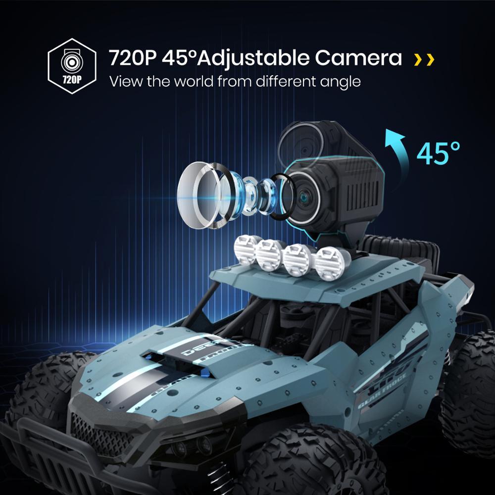 3 Batteries RC Car Racing Truck DE36W  Toy 720P Camera Wifi FPV 1:16 Big Remote Control Trucks Car Toy For Boy 20KM//H Machine enlarge