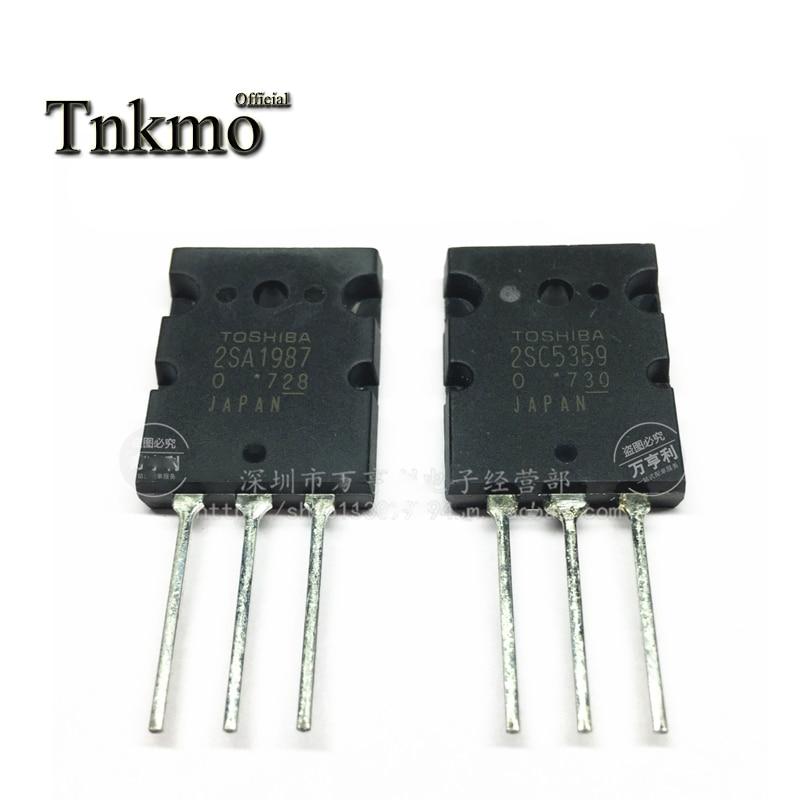 10 pares 2SA1987 TO-3PL 2SC5359 TO3PL 1987 5359 15A 230V NPN + PNP potencia Audio amplificación Transistor entrega gratuita