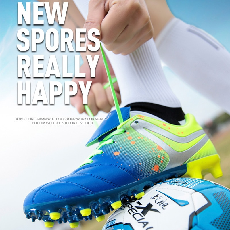 Football shoes broken nails football shoes boys and girls grass spikes large size training shoes long spike nails