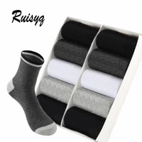 10 pairs cotton men socks high quality 10 pairs thicken warm business socks black autumn winter for male thermal