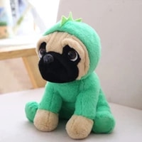 c5aa new large plush toys 10 pug dog in 6 costumes cuddly soft toy girl kids gift