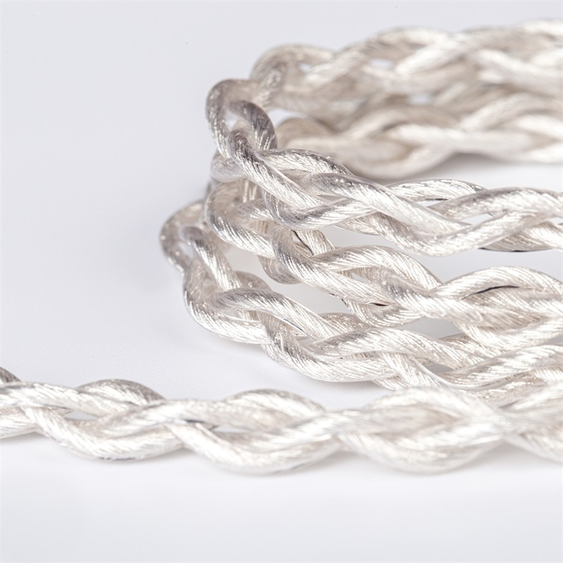 KBEAR Inspiration-S 4 Core 4N Single Crystal Copper Silver Plated Upgrade Cable With Woven Litz Structure Total in 560 Strands enlarge