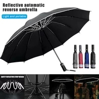 1pc automatic men folding reverse 10k umbrella parasol women travel sun umbrellas black windproof business 10k parapluie