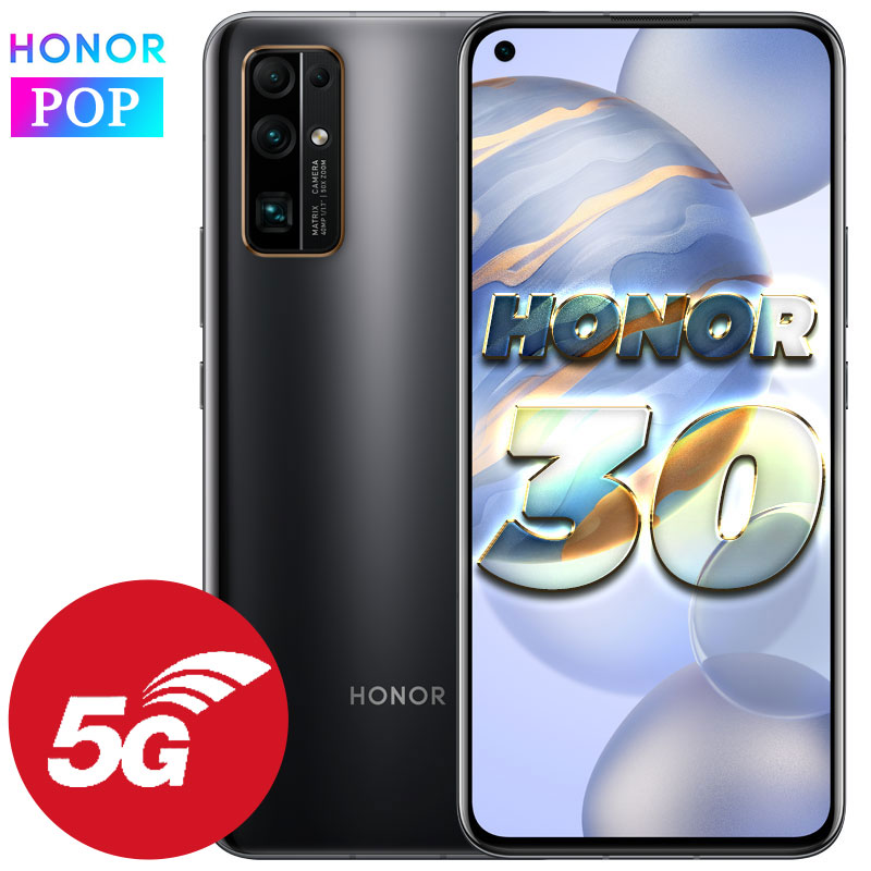 Honor 30 5G Mobilephone NSA 40MP Ultra NFC 6.53 Inch OLED Kirin 985 Smart Phones Android Camera 32MP