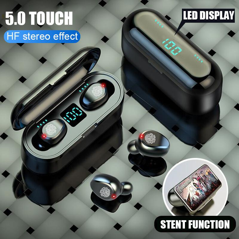 NEW F9 Wireless Bluetooth Headphone with Microphone Touch Control HIFI Mini In-ear Earbuds Sport Running Headsets HD Call enlarge
