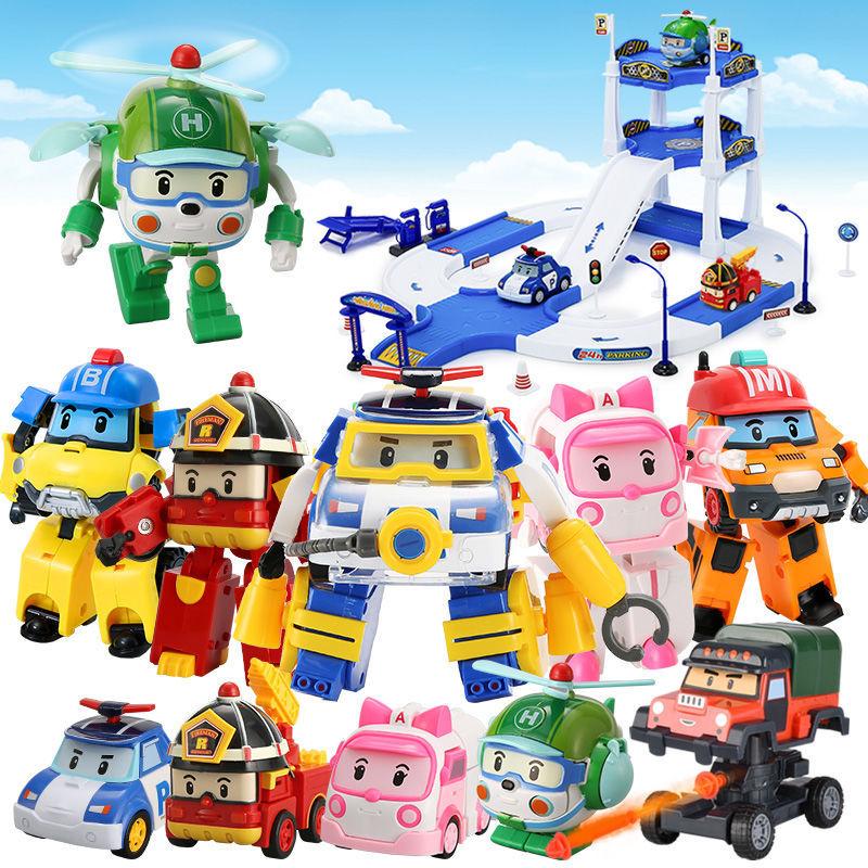 Silverlit Robocar Korea Robot Kids Toys Transformation Anime Action Figure Super Wings Poli Toys For Children Playmobil Juguetes